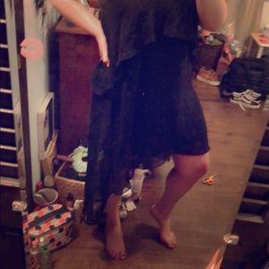 Black high low layered summer dress